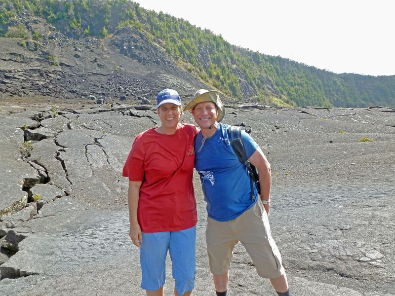 Michael and Laurie on Caldera Floor